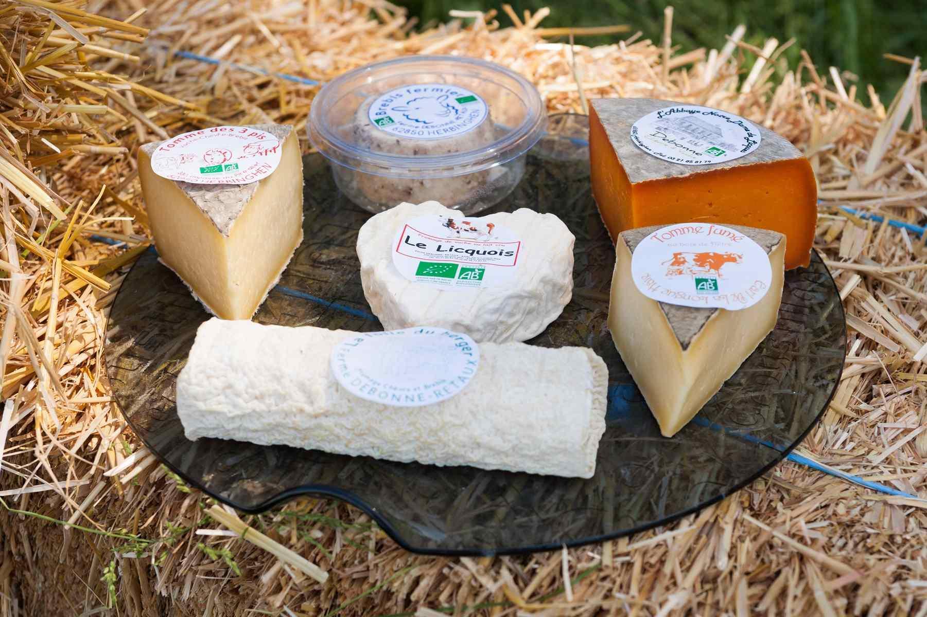 fromage de vache, chèvre et de brebis com à la ferme debonne valentin herbinghen